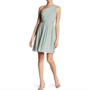 J. Crew Silk Sage One Shoulder Kylie Dress
